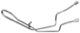 Pressure pipe, Steering system 5058722 (1033466) - Saab 9-5 (-2010)
