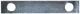 Sicherungsblech Bremssattel Vorderachse 7184153 (1033660) - Saab 95, 96