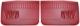 Türverkleidung Fahrertür Beifahrertür rot Satz für beide Seiten  (1033934) - Volvo 120 130 220