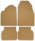 Floor accessory mats Velours beige  (1036707) - Saab 9-3 (2003-)