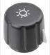 Knob Light switch 1398772 (1037418) - Volvo 200