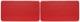 Türverkleidung rot Satz für beide Seiten  (1038287) - Volvo PV