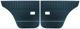 Türverkleidung für Fahrerseite, hinten für Beifahrerseite, hinten blau Kunstleder Satz für beide Seiten  (1039051) - Volvo 220