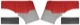 Interior panel Side panel red-grey Kit for both sides  (1040816) - Volvo PV