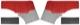 Innenverkleidung Seitenverkleidung rot-grau Satz für beide Seiten  (1040816) - Volvo PV