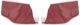 Innenverkleidung Seitenverkleidung rot Satz für beide Seiten  (1041711) - Volvo PV