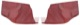 Interior panel Side panel red Kit for both sides  (1041711) - Volvo PV