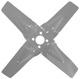 Fan wheel, radiator Exchange part Used part, refurbished  (1042857) - Volvo 120 130 220, 140, P1800, P1800ES, PV P210