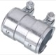 Pipe connector, Exhaust system 60 mm 90 mm Stainless steel 30738976 (1043106) - universal