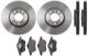 Bremsscheibe Vorderachse Innenbelüftet Satz für beide Seiten  (1048071) - Saab 9-3 (-2003), 9-5 (-2010), 900 (1994-)
