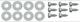 Schraubensatz, Schmutzfänger hinten für beide Seiten  (1048142) - Volvo 120 130 220