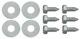 Schraubensatz, Schmutzfänger hinten für beide Seiten  (1048146) - Volvo P1800, P1800ES