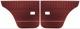 Türverkleidung hinten rot Satz für beide Seiten  (1048170) - Volvo 120 130