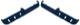 Ablage Tür blau Satz für beide Seiten  (1048835) - Volvo 200