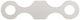Distanzblech, Bremssattel Vorderachse 682309 (1049457) - Volvo 140, 164, P1800, P1800ES