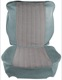 Upholstery Front seat Seat surface Back rest blue Kit for one Seat  (1050583) - Volvo PV