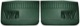 Interior door panel front green Kit for both sides  (1054025) - Volvo 120 130 220