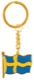 Key fob Swedish flag gold blue-yellow  (1055228) - universal