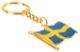 Key fob Swedish flag gold blue-yellow