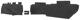 Interior panel Trunk black Cardboard Kit  (1055867) - Volvo 140, 164