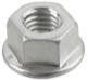 Lock nut all-metal with Collar with metric Thread M10 Zinc-coated 90576769 (1056416) - Saab 9-3 (2003-), 9-5 (2010-), 9-5 (-2010)
