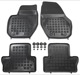 Floor accessory mats Rubber black  (1059714) - Volvo S60 (2011-2018), S60 XC (-2018), V60 (2011-2018), V60 XC (-18), XC60 (-2017)