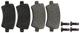 Brake pad set Rear axle 30671574 (1061109) - Volvo S60 XC (-2018), V60 XC (-18), XC60 (-2017)