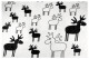 Fleece blanket Elk black-white