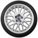 Wheel Center Cap silver for Genuine Light alloy rims Kit