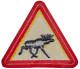 Patch Elk Warning Triangular