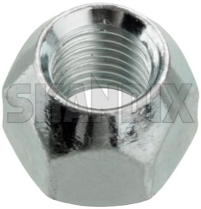 Wheel nut Zinc-coated 87699 (1000119) - Volvo 120 130 220, 140, 164, 200, P1800, P1800ES, PV, PV P210 - 1800e p1800e wheel nut zinc coated wheel nut zinccoated Own-label 19 righthand right hand thread with zinccoated zinc coated