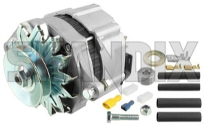 Alternator 55 A 12V 5001612 (1001688) - Volvo 120 130 220, 140, 164, 200, P1800, P1800ES, P210, PV - 1800e alternator 55 a 12v ampere p1800e Own-label 12v 55 55a a additional generator info info  insinde new note part please regulator