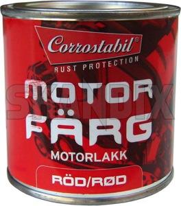 Engine paint red 250 ml  (1010295) - Volvo 120 130 220, 140, 164, 200, 700, 900, P1800, P1800ES, PV - 1800e brick engine paint red 250ml p1800e Own-label 250 250ml can ml red