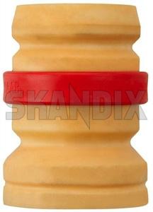 Bump stop, Suspension 4907291 (1015033) - Saab 9-3 (-2003) - blocks bump stop suspension helper springs rubber buffers strut bump stop Genuine axle front red