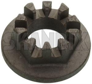 Nut, Wheel bearing Front axle M18 1272918 (1015153) - Volvo 200, 700 - brick nut wheel bearing front axle m18 Genuine axle front m18