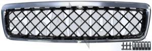 Kühlergitter ohne Strebe ohne Emblem mit Rautengitter  (1016000) - Volvo S70 V70 V70XC (-2000) - cross country frontgrille gitter grille kuehlergitter ohne strebe ohne emblem mit rautengitter kuehlergrille kuelergril kuelergrill s70 v70 v70i v70xc xc Hausmarke chrom emblem mit ohne rautengitter schwarz strebe