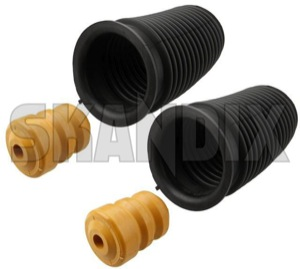 Shock absorber Dust cover Kit for both sides  (1016183) - Saab 9000 - shock absorber dust cover kit for both sides Own-label axle blocks both buffers bump drivers for front helper kit left passengers right rubber side sides springs stop stops strut suspension with