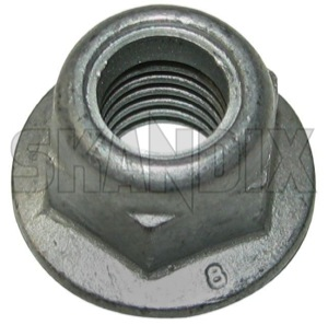 Lock nut with plastic-insert with Collar with metric Thread M10 987891 (1016678) - Volvo 850, universal - lock nut with plastic insert with collar with metric thread m10 lock nut with plasticinsert with collar with metric thread m10 nuts Genuine ball clamp collar joint m10 metric plasticinsert plastic insert screw screw  thread with