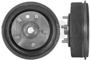 Brake drum Rear axle 673797 (1017347) - Volvo 120 130 220, P1800, PV - 1800e brake drum rear axle p1800e Genuine axle hub rear with
