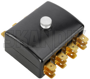 Fuse box 192228 (1018079) - Volvo 120 130 220, PV P210 - fuse box fuse holders fuses strips fusestrip Own-label 4 fuses without
