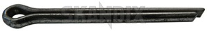 Split pin 907824 (1018479) - Volvo 120 130 220, 140, 164, P1800, P1800, P1800ES, PV - 1800e p1800e split pin Own-label bolt bolt  brake clutch end filling lid pedal rod tie
