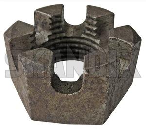 Nut, Wheel bearing Castle nut Front axle 153042 (1018678) - Volvo 120 130 220, 140, 164, P1800, PV - 1800e nut wheel bearing castle nut front axle p1800e Own-label axle castle front nut