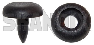 Seat belt stop 8 mm 8665065 (1018778) - Volvo C70 (-2005), S60 (-2009), S70 V70 V70XC (-2000), V50, V70 P26, XC70 (2001-2007), XC90 (-2014) - clip safety belt clip  safety belt seat belt stop 8mm Genuine 8 8mm front grey mm rear seat