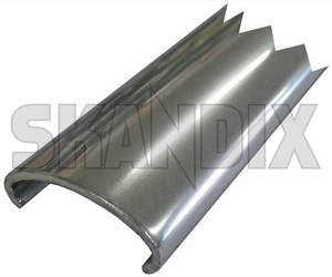 Drip rail moulding rear Section 662657 (1018845) - Volvo 220 - drip rail moulding rear section trim moulding Own-label anodised anodized rear section