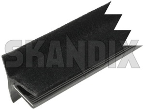 Window scraper, Side window front outer  (1022063) - Saab 900 (-1993) - door glass trim rubber mouldings side window seal window scraper side window front outer window shaft seal skandix 835 835mm front mm outer