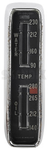 Gauge, Coolant-/ oil temperature Exchange part English 665260 (1022335) - Volvo P1800 - 1800e clocks cooling water engineoil gauge coolant  oil temperature exchange part english gauge coolant oil temperature exchange part english gauges instruments p1800e temperature cluster Own-label ˚f attention attention  english exchange part policy return special with