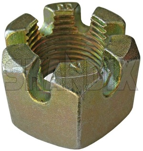 Castle nut  (1022653) - Volvo 120 130 220, P1800, P1800ES, PV - 1800e castle nut p1800e heyd germany 937 m10x1 rod tie track