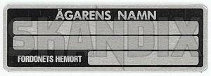 Hinweisschild  (1022886) - universal Classic - aufkleber etiketten hinweisschild hinweisschilder informationsschilder schilder Hausmarke namensschild schild