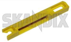 Clip, Body trim Rail Trim, Roof edge 1372682 (1026559) - Volvo 850, S70 V70 (-2000), V70 XC (-2000) - clip body trim rail trim roof edge Genuine edge material plastic rail roof synthetic trim trim  yellow