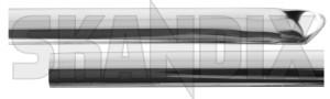 Drip rail moulding rear left 1202990 (1027228) - Volvo 164, 200 - drip rail moulding rear left trim moulding Genuine anodised anodized left rear silver